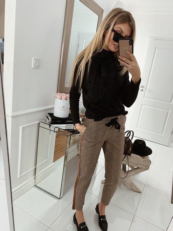 Spodnie Larona Brązowe