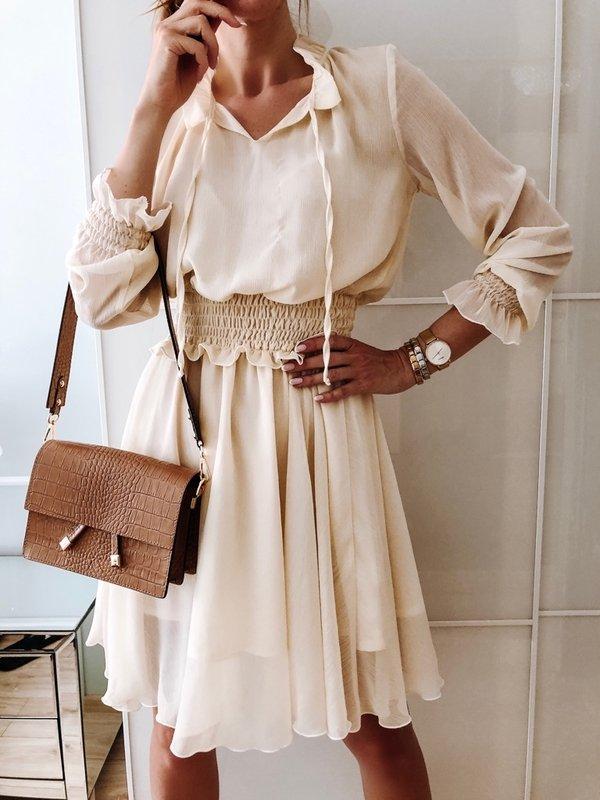 Sukienka Jazmin Beżowa