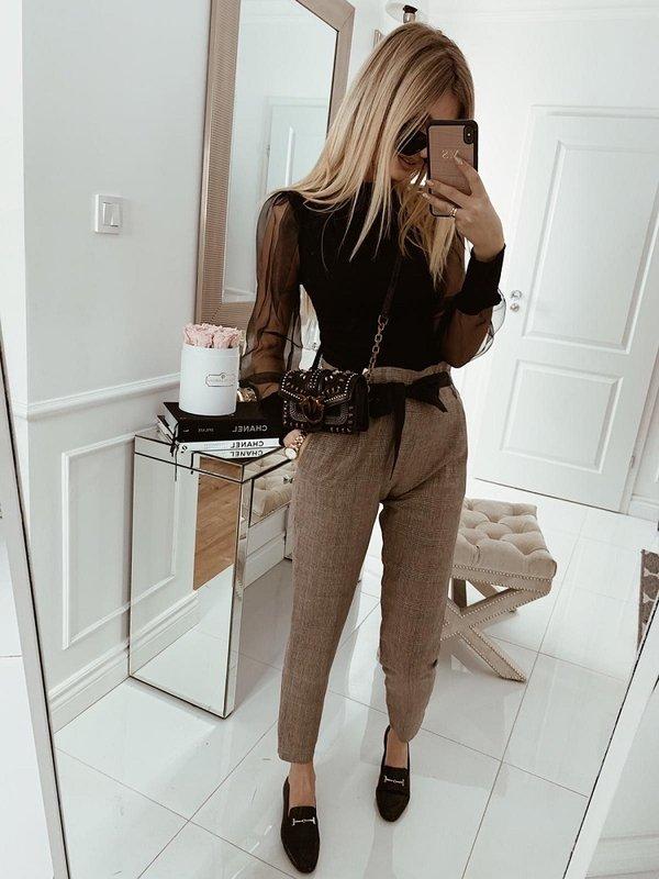 Spodnie Nalove Brązowe