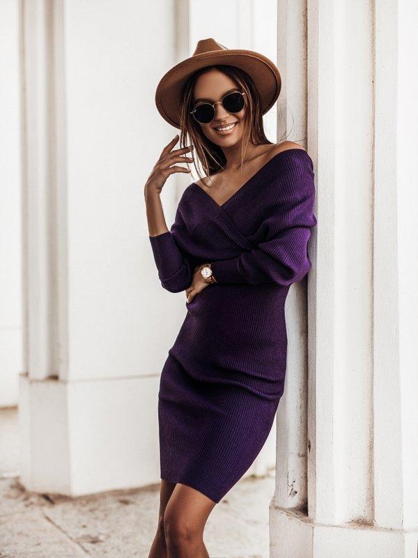 Sukienka Janetta Fioletowa