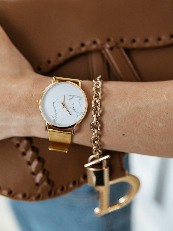 Zegarek Marmurkowy Gold