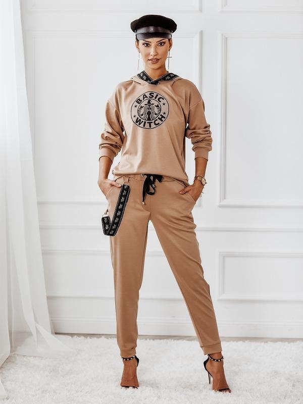 Spodnie Basic Witch Black Karmelowe