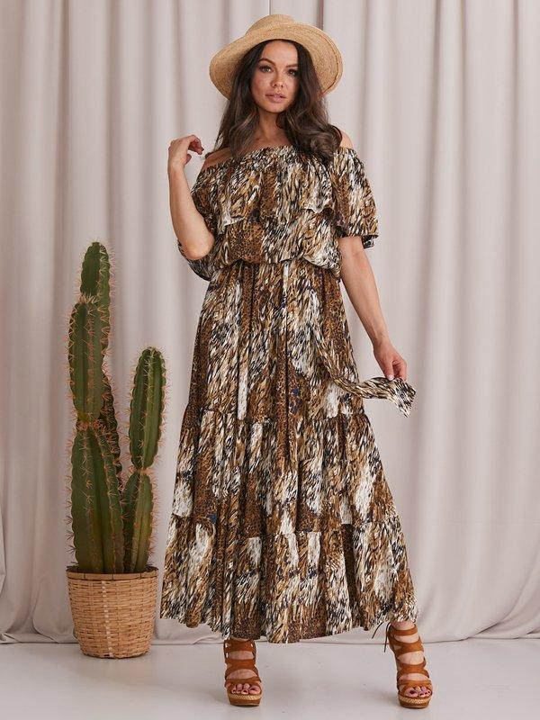 Sukienka Lion Brązowa