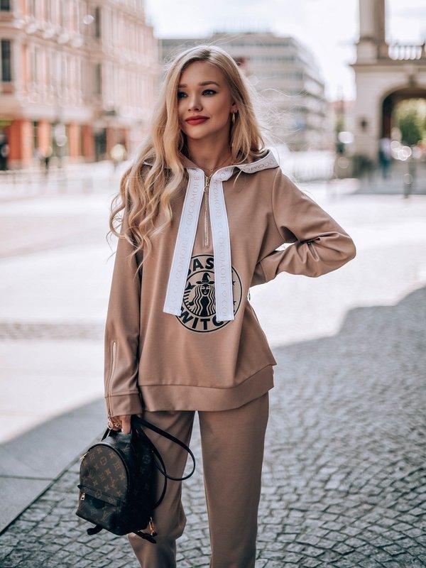 Bluza Zip Witch Karmelowa