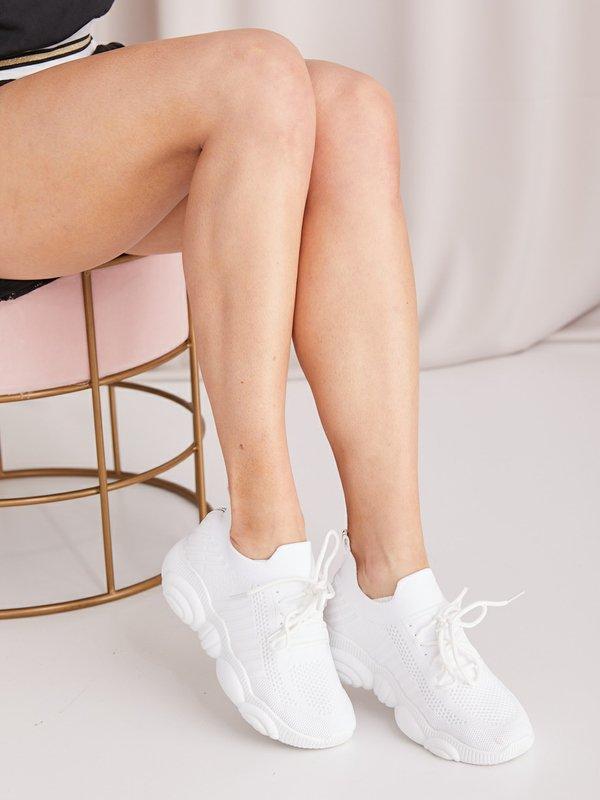 Sneakersy Sporty Białe