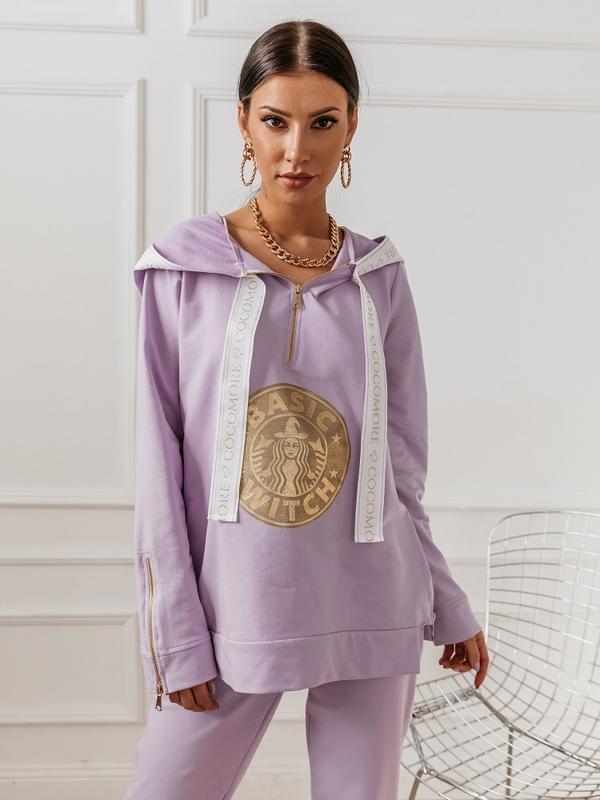 Bluza Zip Witch Fioletowa