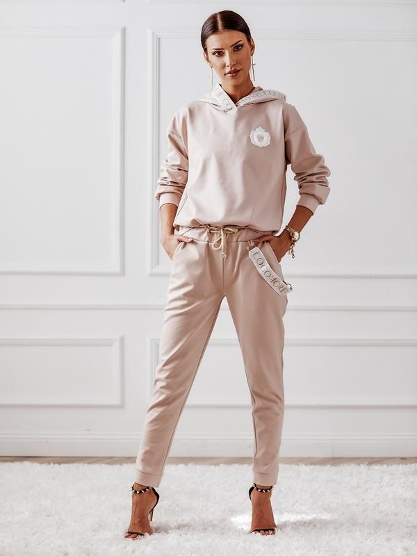 Spodnie Zoya Pudrowe
