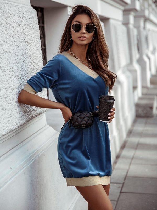 Sukienka Soft Niebieska
