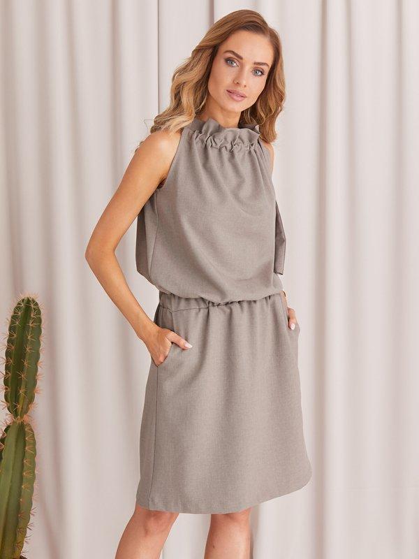 Sukienka Madellin Brązowa