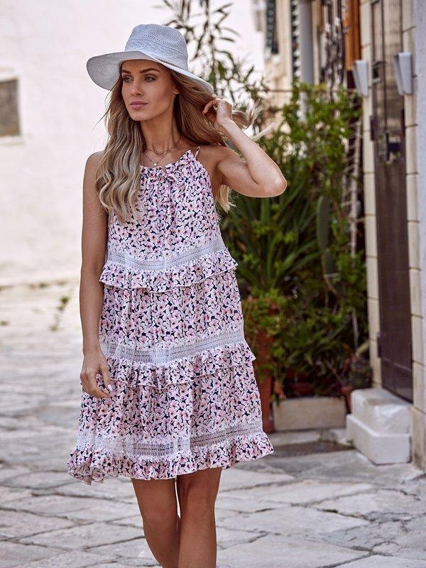 Sukienka Sunflower Pudrowa