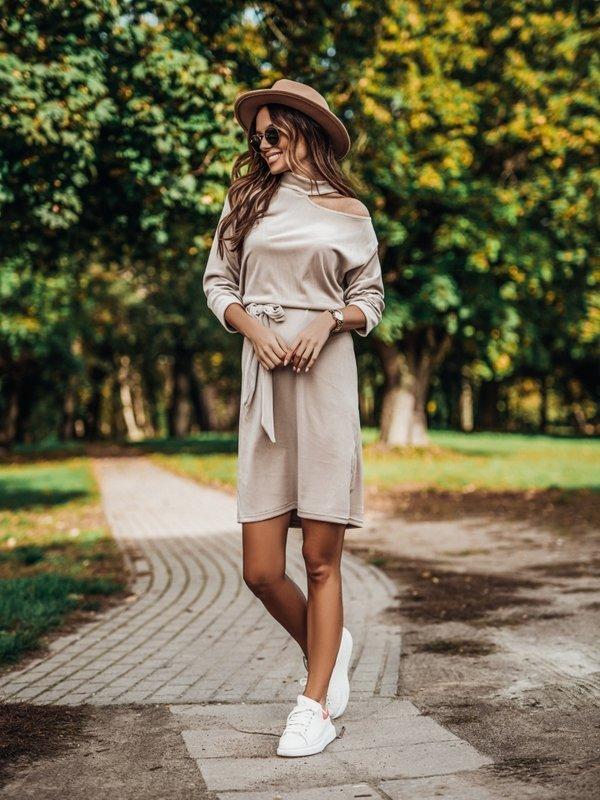 Sukienka Marita Beżowa